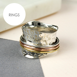 POM Boutique silver spinning rings