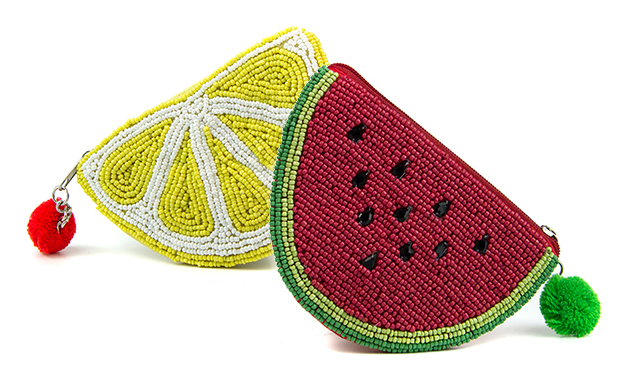 Pom Boutique fruit slice beaded purses