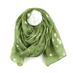 Pom Boutique pistachio green metallic scarf
