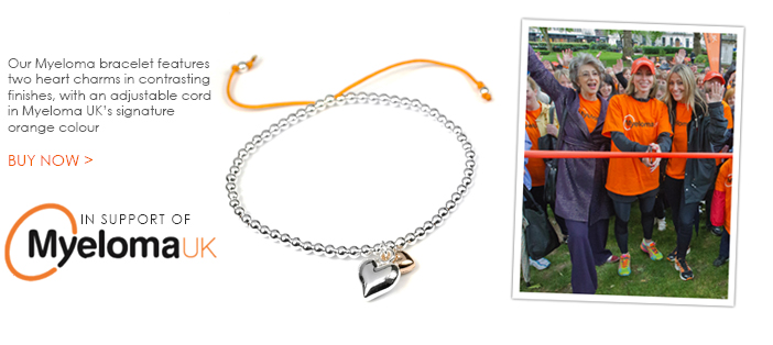 Myeloma UK charity bracelet by POM Boutique