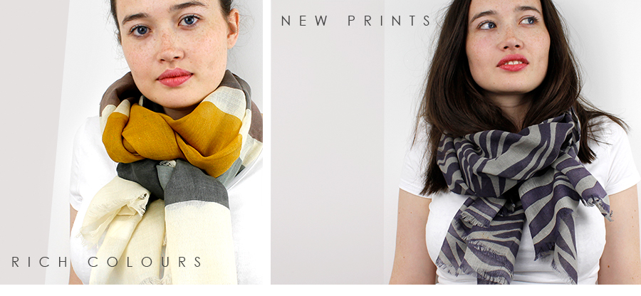 printed scarves from pom