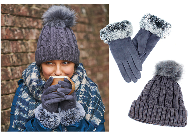 knitted winter hats for women warm gloves