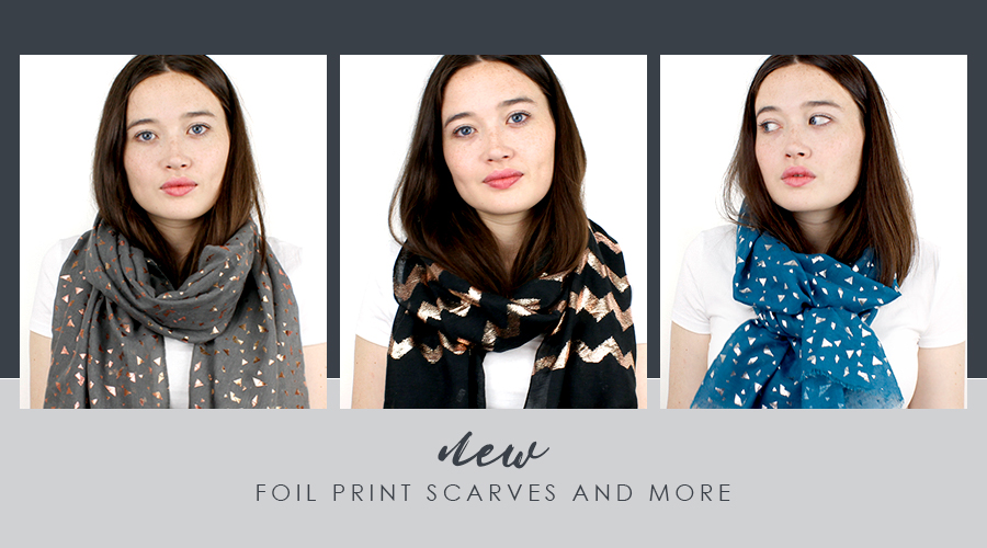 metallic scarves