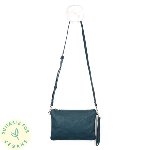Vegan Leather convertible clutch bag in teal | Image 1