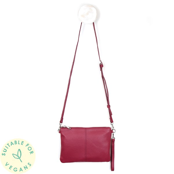 Vegan Leather convertible clutch bag in red | Image 1