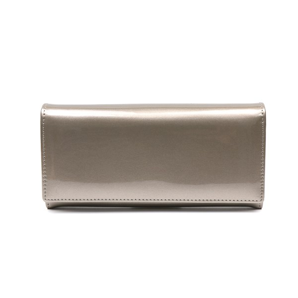 Large soft bronze patent purse | Image 1