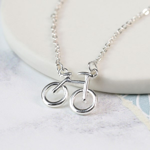 Silver plated bicycle split chain necklace | Image 1