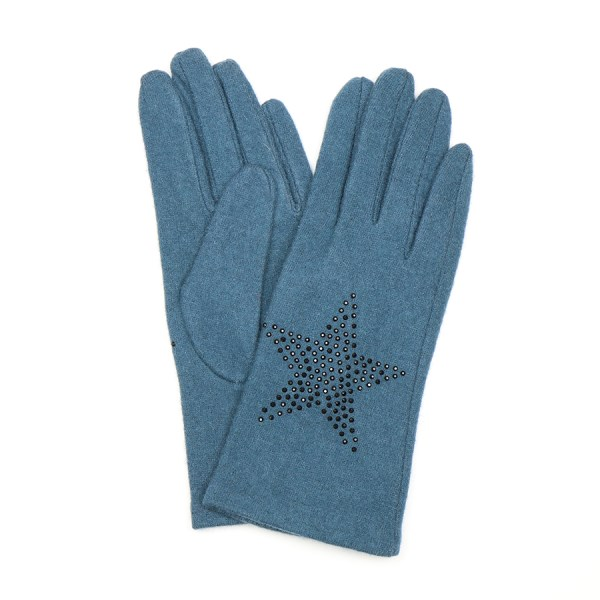 Teal wool glove with star embellishment | Image 1