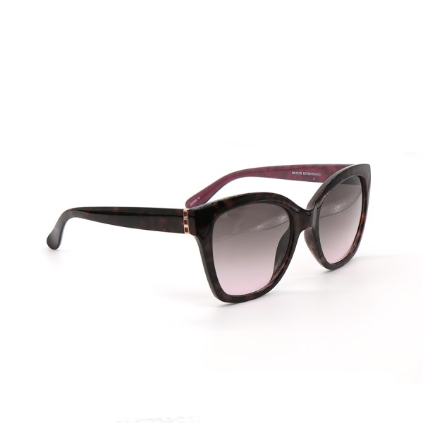 Tortoiseshell sunglasses with gold and magenta detailing | Image 1