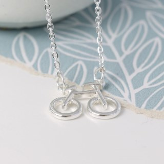 Silver plated bicycle split chain necklace | Image 2