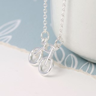Silver plated bicycle split chain necklace | Image 3
