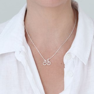 Silver plated bicycle split chain necklace | Image 4