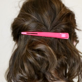 Burgundy and pink condor hair clip double set | Image 2