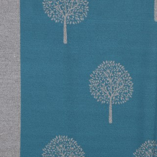 Reversible teal and grey jacquard tree scarf | Image 4