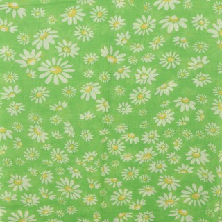 Recycled green mix daisy print scarf | Image 3