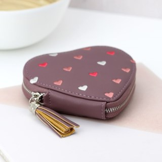 Mulberry heart shaped purse with embroidery and tassel | Image 5