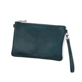 Vegan Leather convertible clutch bag in teal | Image 2