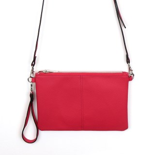 Vegan Leather convertible clutch bag in pink | Image 2