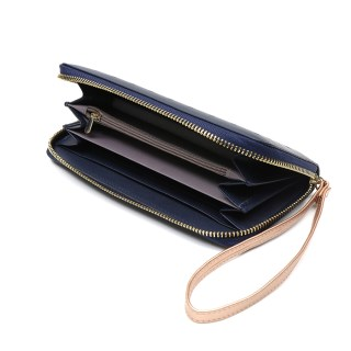 Navy faux leather purse with rose gold star detailing | Image 3
