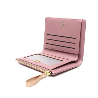Compact pink faux leather and rose gold star purse | Image 2