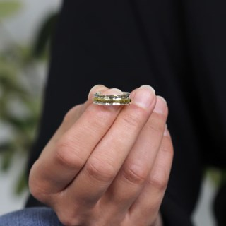 Sterling silver and brass fine band spinning ring | Image 6