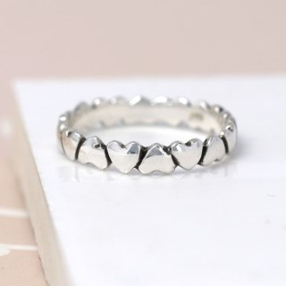 Sterling silver upside down hearts ring | Image 4