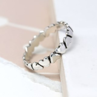 Sterling silver upside down hearts ring | Image 5