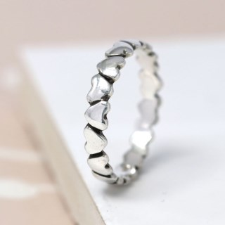 Sterling silver upside down hearts ring | Image 3