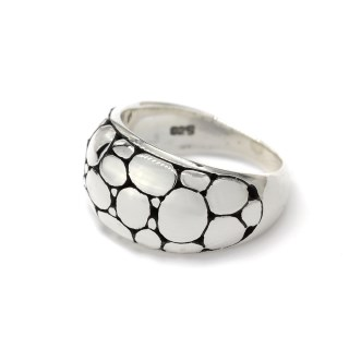 Sterling silver ring with smooth multi pebble finish | Image 5