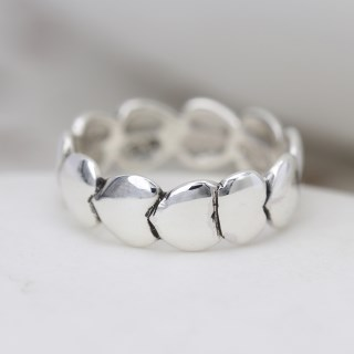 Sterling silver ring with multi linked heart design | Image 3