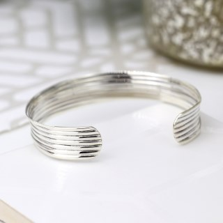 Sterling silver bangle with a multi strand design | Image 2
