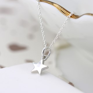 Sterling silver little star pendant on a fine silver chain | Image 4