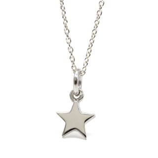 Sterling silver little star pendant on a fine silver chain | Image 5