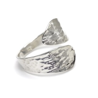 Sterling silver wrap ring with a hammered finish | Image 5