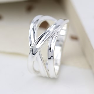 Sterling silver ring with multi strand crossover design | Image 2