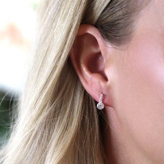 Sterling silver and CZ crystal bar and drop earrings | Image 3