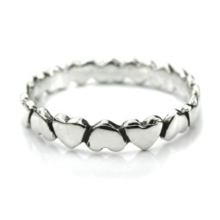 Sterling silver upside down hearts ring | Image 2