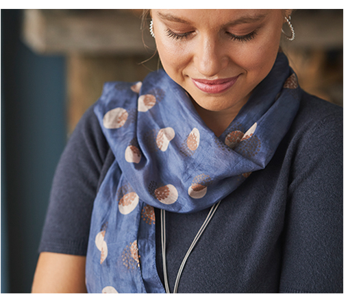 printed silk scarves for women