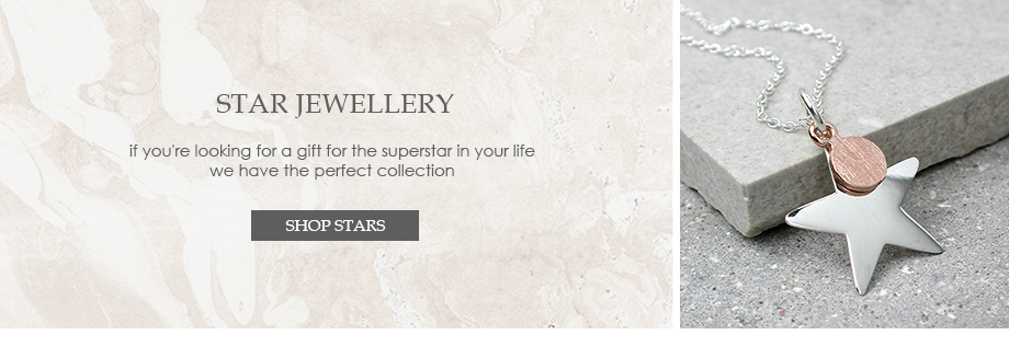 silver star jewellery and silver plated star jewellery
