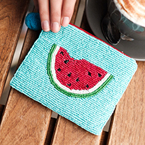 Pom Boutique beaded watermelon purse